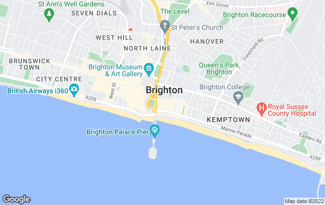 Map for Justin Lloyd, Brighton