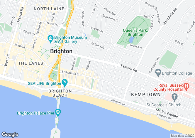 Map for Devonshire Place, Brighton, East Sussex, BN2