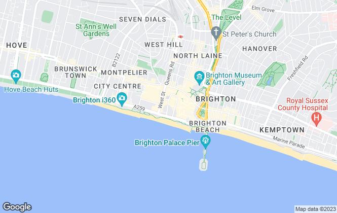 Map for Roche Barrett Estates limited, Brighton