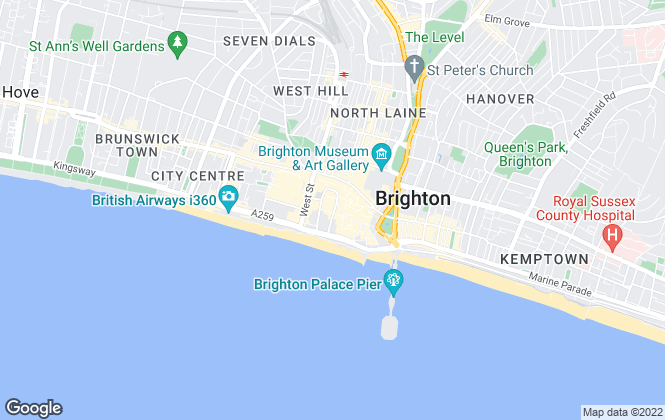 Map for Carr & Priddle, Brighton