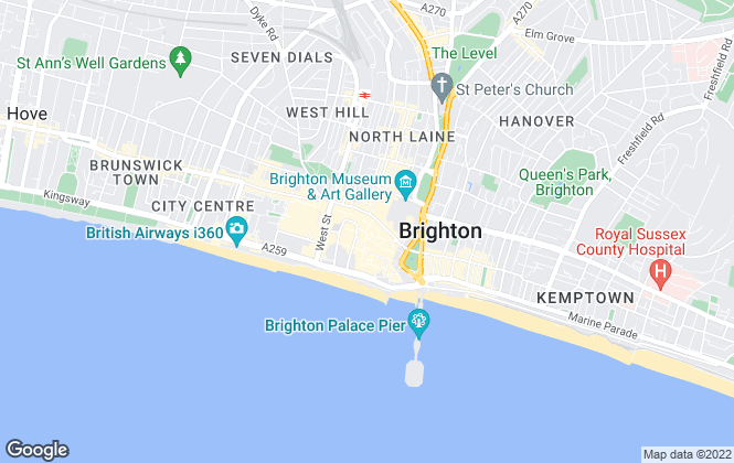 Map for JD Property Network, Brighton