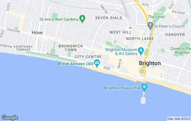 Map for Bishop Sullivan, Brighton