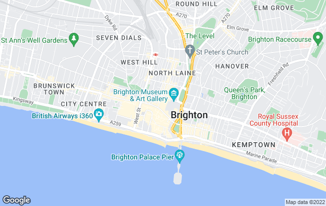 Map for Flude Property Consultants, Brighton