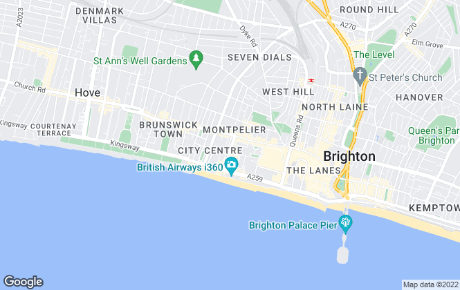 Map for KingsLet, Brighton,