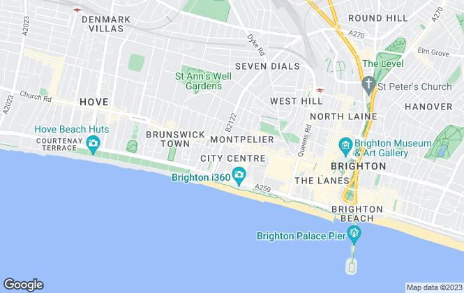 Map for Bishop Sullivan, Brighton