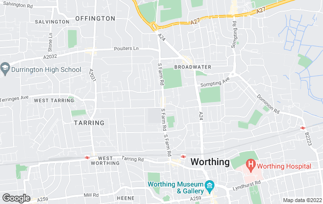 Map for John Edwards Estate agents, Worthing