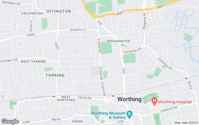 Map for John Edwards Estate Agents, Worthing