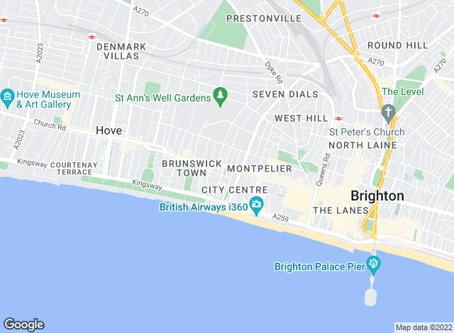 Map for Homelets, Brighton