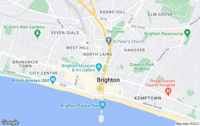 Map for Oakley Property, Brighton