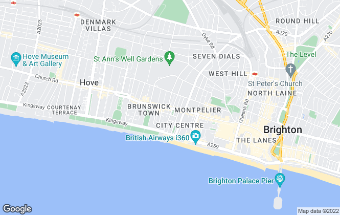 Map for Belvoir, Brighton & Hove