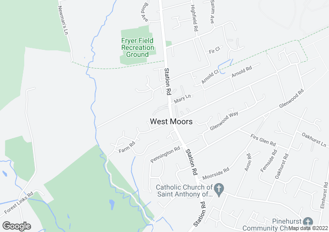 Map for Pinewood Court, Station Road, Ferndown, BH22 0HR