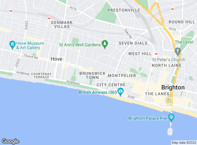 Map for Cambridge Residential, Hove