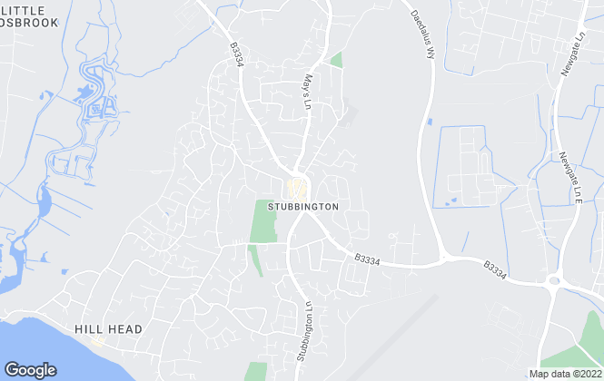 Map for Morris Dibben, Stubbington