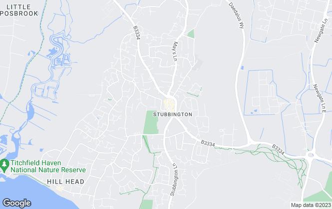 Map for Dibbens Estate Agents, Stubbington