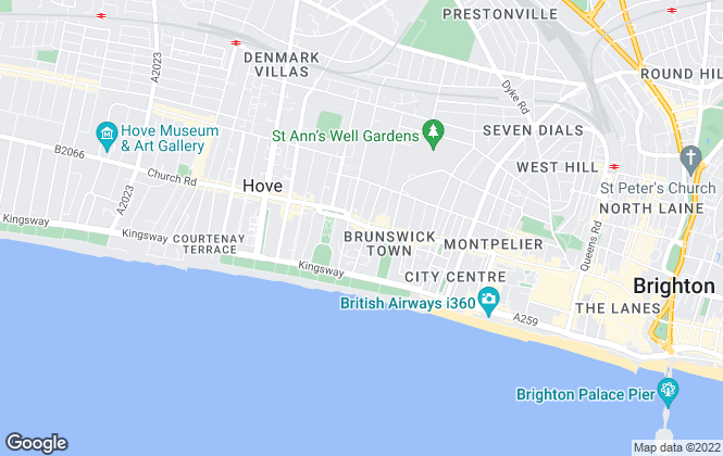 Map for Spark and Sons, Hove