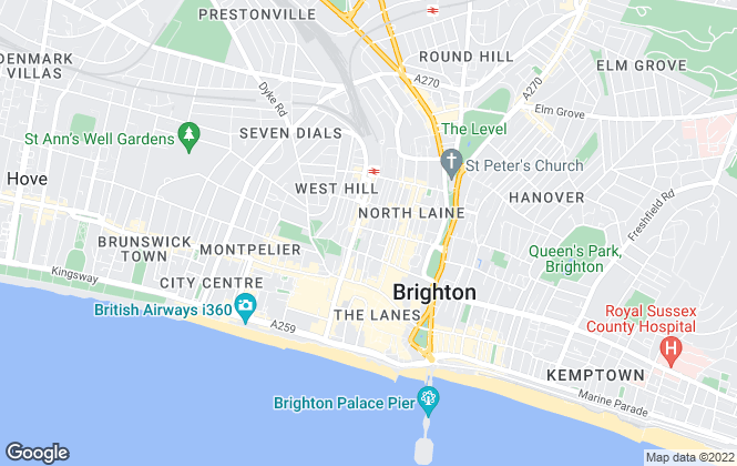 Map for Ariana Gee Bespoke Lettings, Brighton & Hove