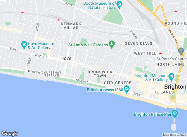 Map for Priors, Hove