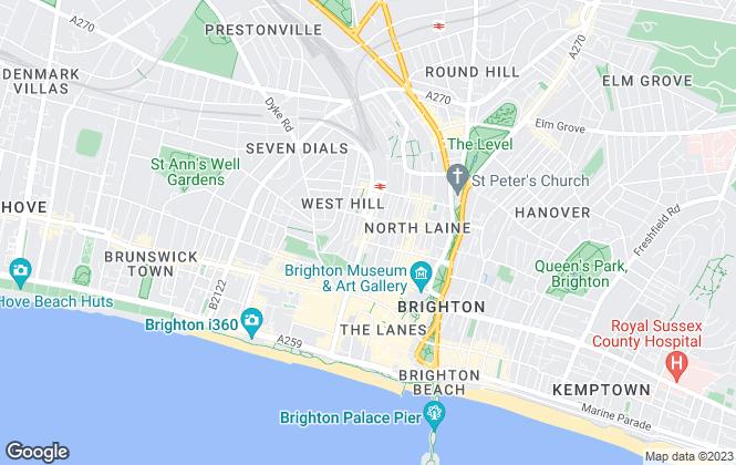 Map for Parks Residential Ltd, Brighton