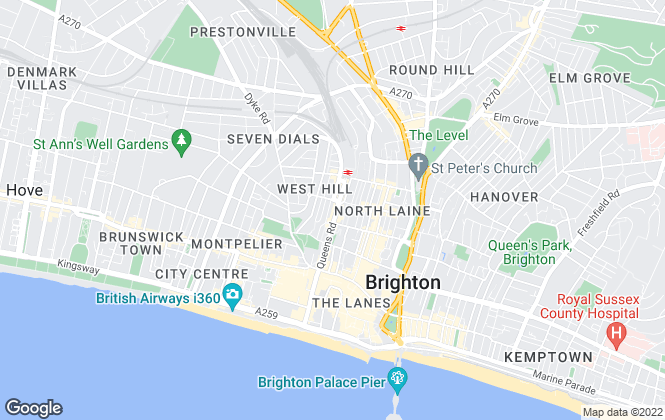 Map for Your Move , Brighton
