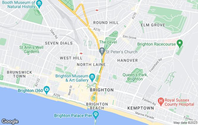 Map for Brighton Homes, Brighton