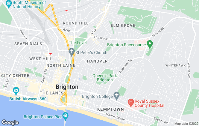 Map for Barrie Alderton, Brighton- lettings