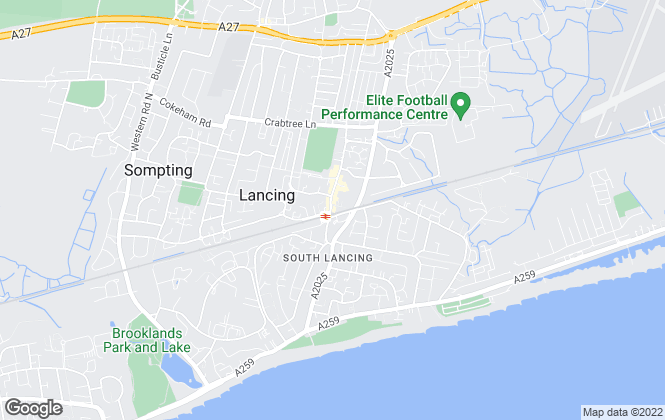 Map for Fox & Sons, Lancing