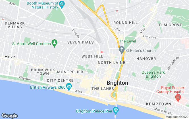 Map for Young Lee, Hove
