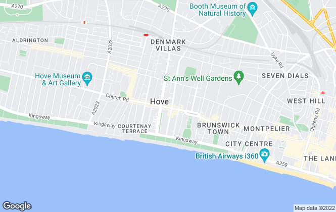 Map for Nash Watson, Hove