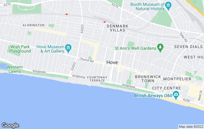 Map for Hamptons International Sales, Brighton & Hove