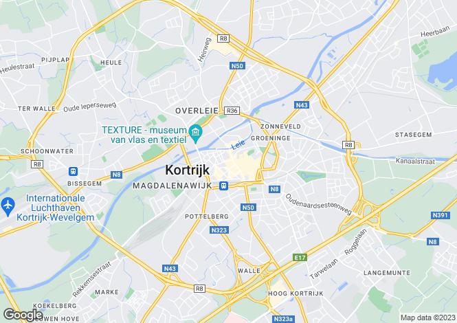 Map for Kortrijk, Kortrijk, West Flanders