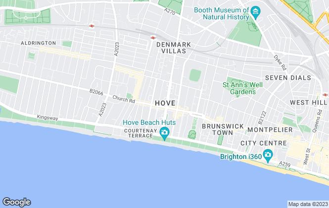 Map for Nicholas James, Hove