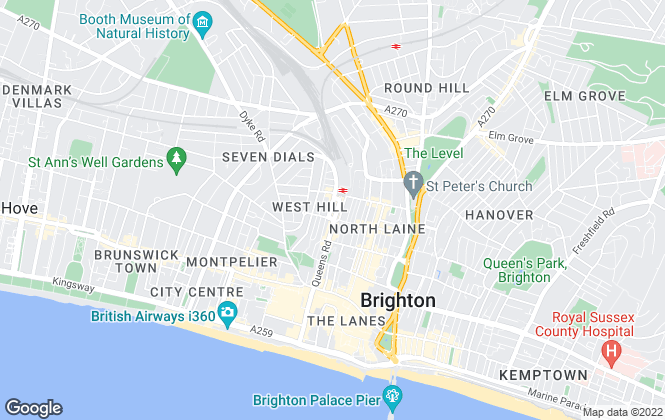 Map for Home Leasing Ltd, Brighton
