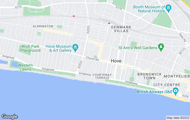 Map for SB Lets & Sales , Brighton & Hove