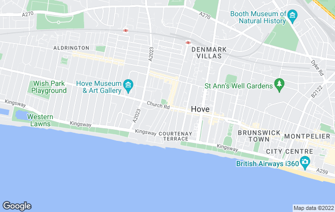Map for Fox & Sons, Hove
