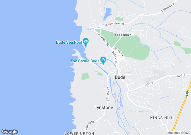 Map for Church Path, Bude, Cornwall