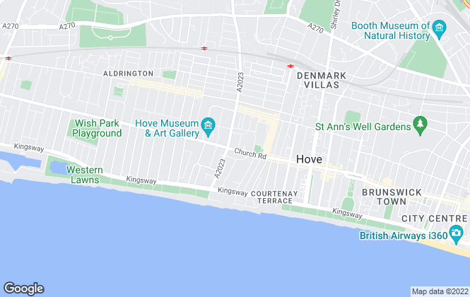 Map for Truemans, Brighton & Hove