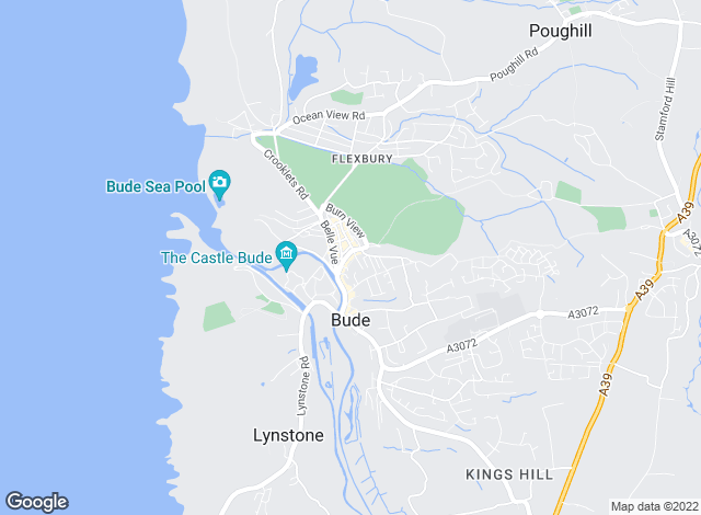 Map for Fine & Country, Bude