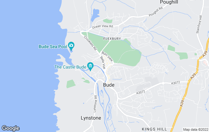 Map for Kivells, Bude - Resale