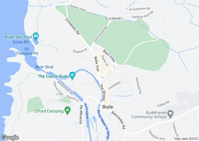 Map for Belle Vue, Bude