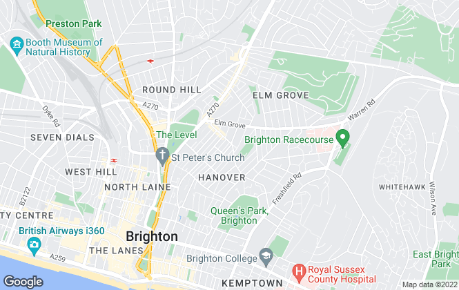 Map for Wheelers Estate Agents, Brighton