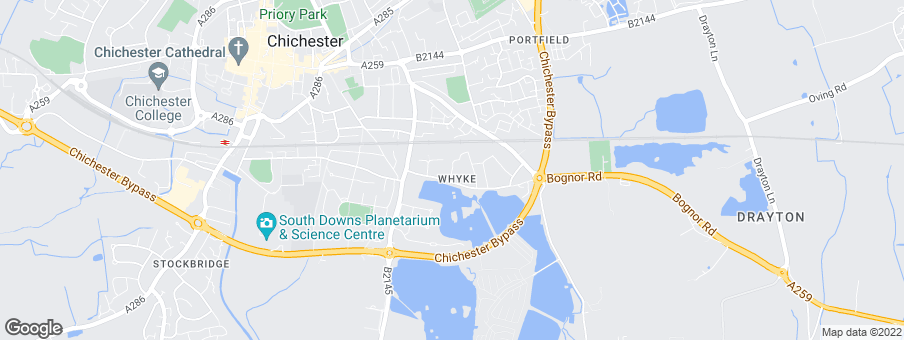 Map for Hyde New Homes