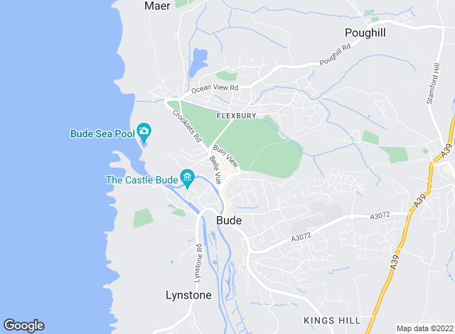 Map for Bond Oxborough Phillips, Bude