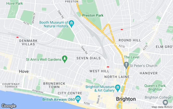 Map for AR Lettings, Hove