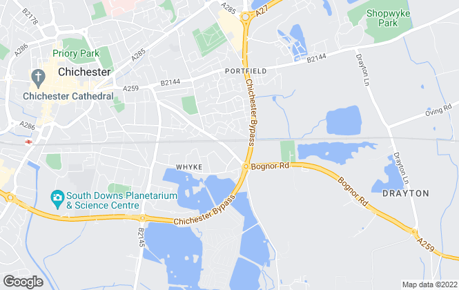 Map for Whiteheads, Chichester - Lettings
