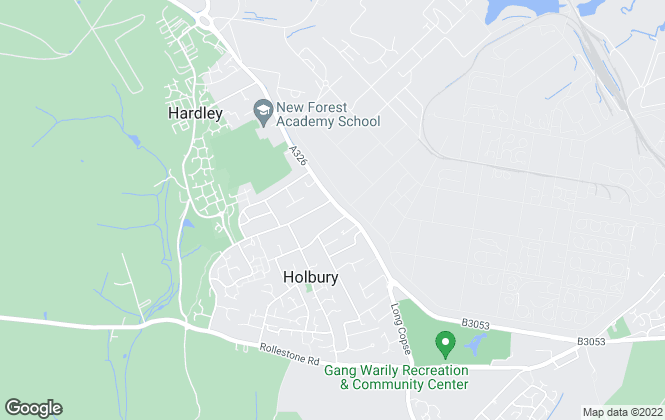 Map for Easton Residential, Holbury