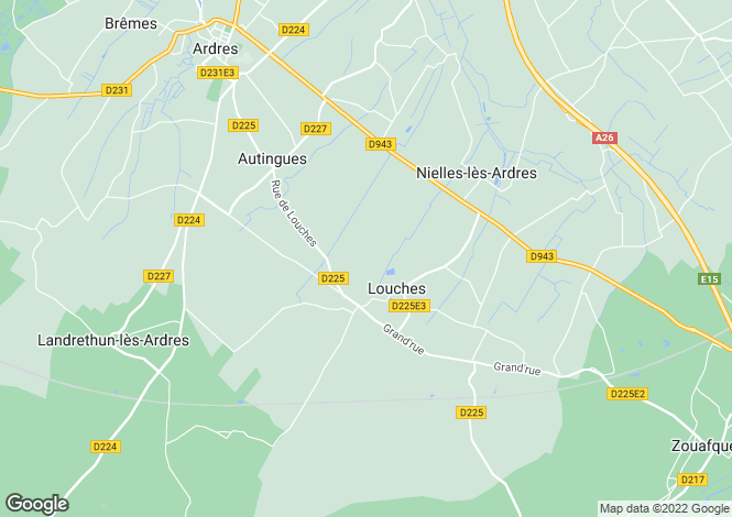 Map for louches, Pas-de-Calais, France