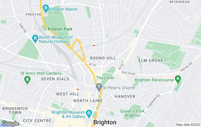 Map for Martin & Co, Brighton - Lettings