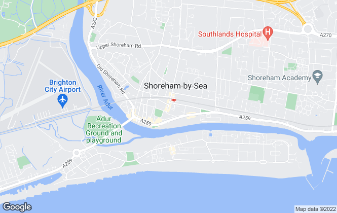 Map for Osborn Humphreys, Shoreham by Sea