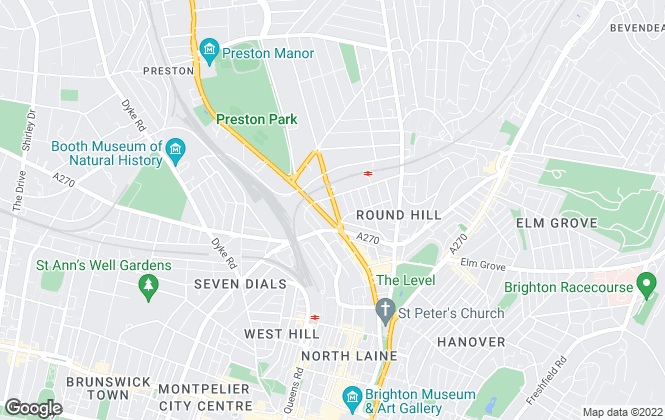 Map for Martin & Co, Brighton