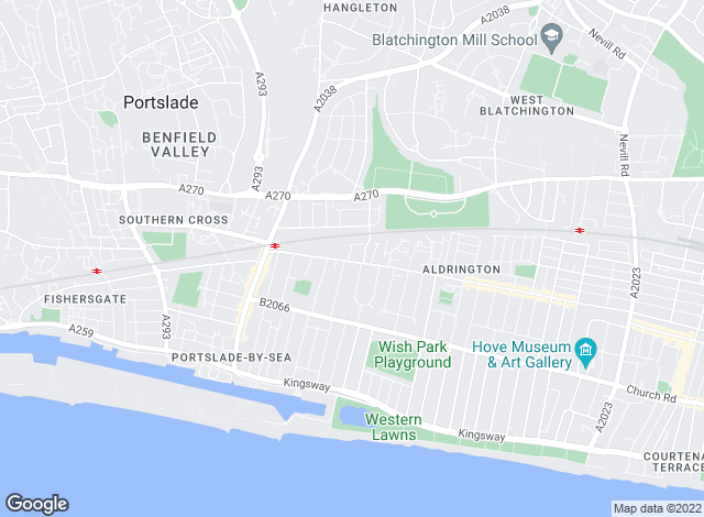 Map for Brighton Accommodation, Hove
